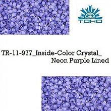 Korálky - 659-T096 TOHO rokajl 11/0 Inside-Color Crystal_Neon Purple Lined, 10 g - 2174865
