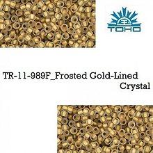 Korálky - 663-T097 TOHO rokajl 11/0 Frosted Gold-Lined Crystal, 10 g - 2174872