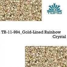 Korálky - 657-T098 TOHO rokajl 11/0 Gold-Lined Rainbow Crystal, 10 g - 2174877