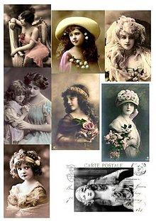 Papier - Vintage nažehlovacie obrázky 10 - 2177312