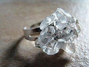 Prstene - Kúsky ľadu.../horský krištáľ/ - 2183432