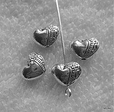 Korálky - Kov.korálka-srdce 10x7mm-1ks - 2184064