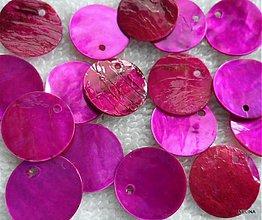 Korálky - Placička perleť 15mm-1ks - 2184332