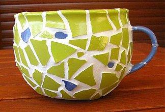 Nádoby - Mozaikový obal na kvetináč - 2184923