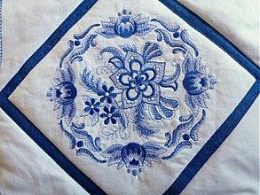 Materiál ručne robený - Modrá kolekcia + červená kolekcia - 2186353