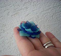 Prstene - tyrkysovo-modrý prsteň - 2186946