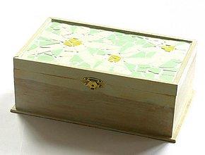 Krabičky - Margarétková šperkovnica - 2187513