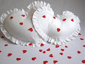Úžitkový textil - Valentínsky vankúš EMMA pre dvoch s výplňou maxi - 2191382