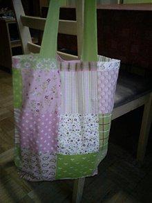 Veľké tašky - ružovo zelená - 2191985