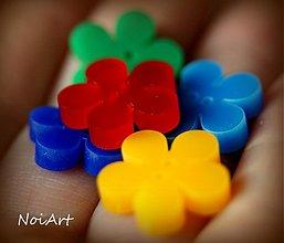 Materiál ručne robený - Gombíčky kvietok PLAST - 2194293