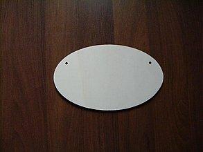 Tabuľky - Ovál - tabuľka na dvere - 2196140