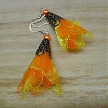 Náušnice - Oranžová a žltá - 2196944