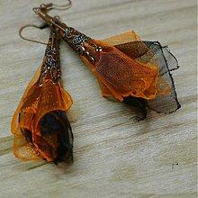 Náušnice - Oranžová a čierna - 2197023