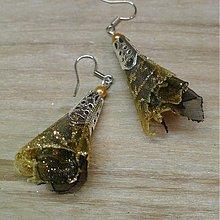 Náušnice - Zlatá a čierna - 2197076