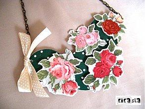 Náhrdelníky - Ružový sad - 2197494