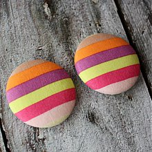 Materiál ručne robený - Neónkové buttony 38 mm - 2201635