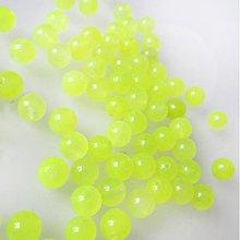 Minerály - Jadeit korálka / 6mm / balenie 10ks (Neon Yellow) - 2211290