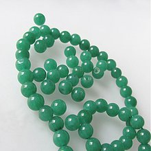 Minerály - Jadeit korálka / 6mm / balenie 10ks (Smaragd Green) - 2211315