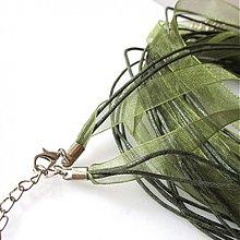 Komponenty - Náhrdelník organzový  (Olive) - 2211706
