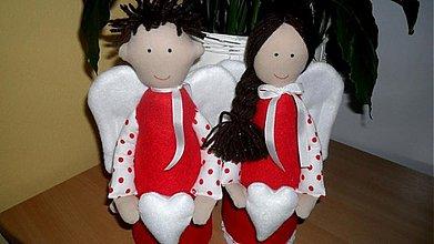 Dekorácie - anjelský pár S - 2214312