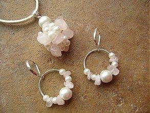 Sady šperkov - Sada MALÁ ROSELLA (ruženín) - 2214473