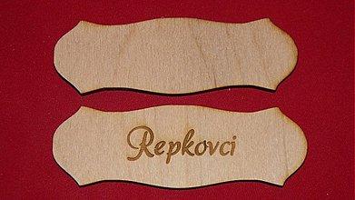 Materiál ručne robený - Vyrezavana menovka z preglejky 2 - 2219310