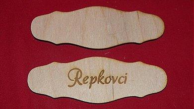 Materiál ručne robený - Vyrezavana menovka z preglejky 3 - 2219327