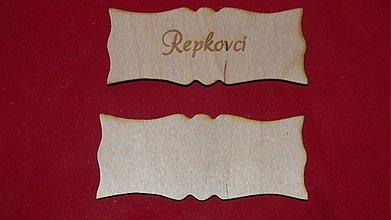 Materiál ručne robený - Vyrezavana menovka z preglejky 5 - 2219354