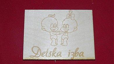 Tabuľky - Značenie dverí  Detska izba 3 - 2219600