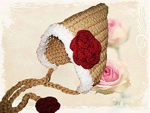 Detské čiapky - Romantic Rose - kapucňa - 2221171