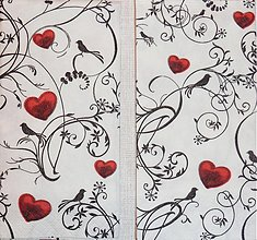 Papier - Hearts & Ornaments - Srdcia a ornamenty - 2223194