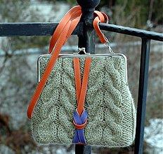 Kabelky - olivová pletená - 2228099