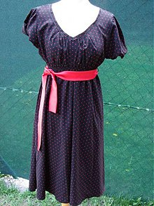 Tehotenské oblečenie - šaty s bodkami - 2228467