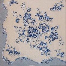 Papier - Blue Flowers - Modré kvety - 2230786