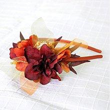 Ozdoby do vlasov - Oranž a bordó - 2232940