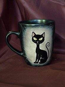 Nádoby - Čierny hrnček - Black Cat - 2233482
