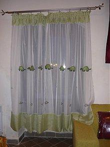 Úžitkový textil - Hotová šitá záclona - 2234235