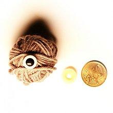 Iný materiál - 12mm bezpečnostné biele oči pre hračky - 2235801