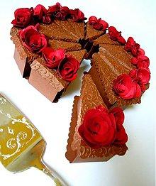 Papiernictvo - Sacherová tortička - 2240674