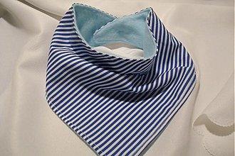 Detské doplnky - ♥♥♥Šatka na krk & slintáčik- pásiková modrá♥♥♥ - 2241684