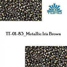 Korálky - 734-T1004 TOHO TREASURE Metallic Iris Brown, 5 g - 2245326