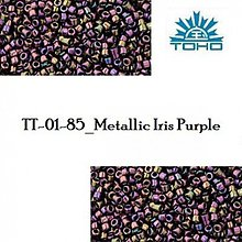 Korálky - 734-T1006 TOHO TREASURE Metallic Iris Purple, 5 g - 2245342