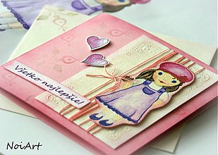 Papiernictvo - Pohľadnica - Všetko najlepšie, dievčatko 1 - 2245397