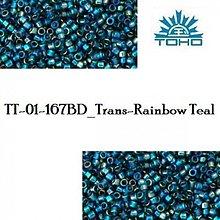 Korálky - T1013 TOHO TREASURE Trans-Rainbow Teal, 5 g - 2245429