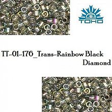 Korálky - 734-T1015 TOHO TREASURE Trans-Rainbow Black Diamond, 5 g - 2245557