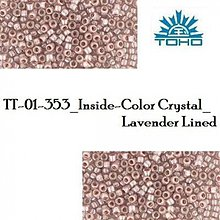 Korálky - 734-T1021 TOHO TREASURE Inside-Color Crystal_Lavender Lined, 5 g - 2245620