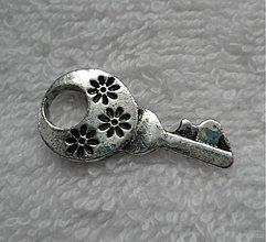 Komponenty - KPrív-kľúčik-1ks (30x15mm-platina) - 2248006