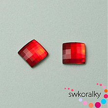 Korálky - CHESSBOARD 8 SWAROVSKI ® ELEMENTS light siam ruby - 2248094