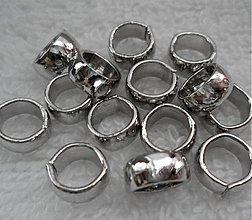 Komponenty - Kov.krúžok 8mm/š=3mm-platina-1ks - 2248156