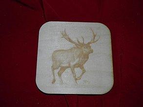 Úžitkový textil - Podložky pod čaj, kávu 2 poľovnicky motív - 2248740